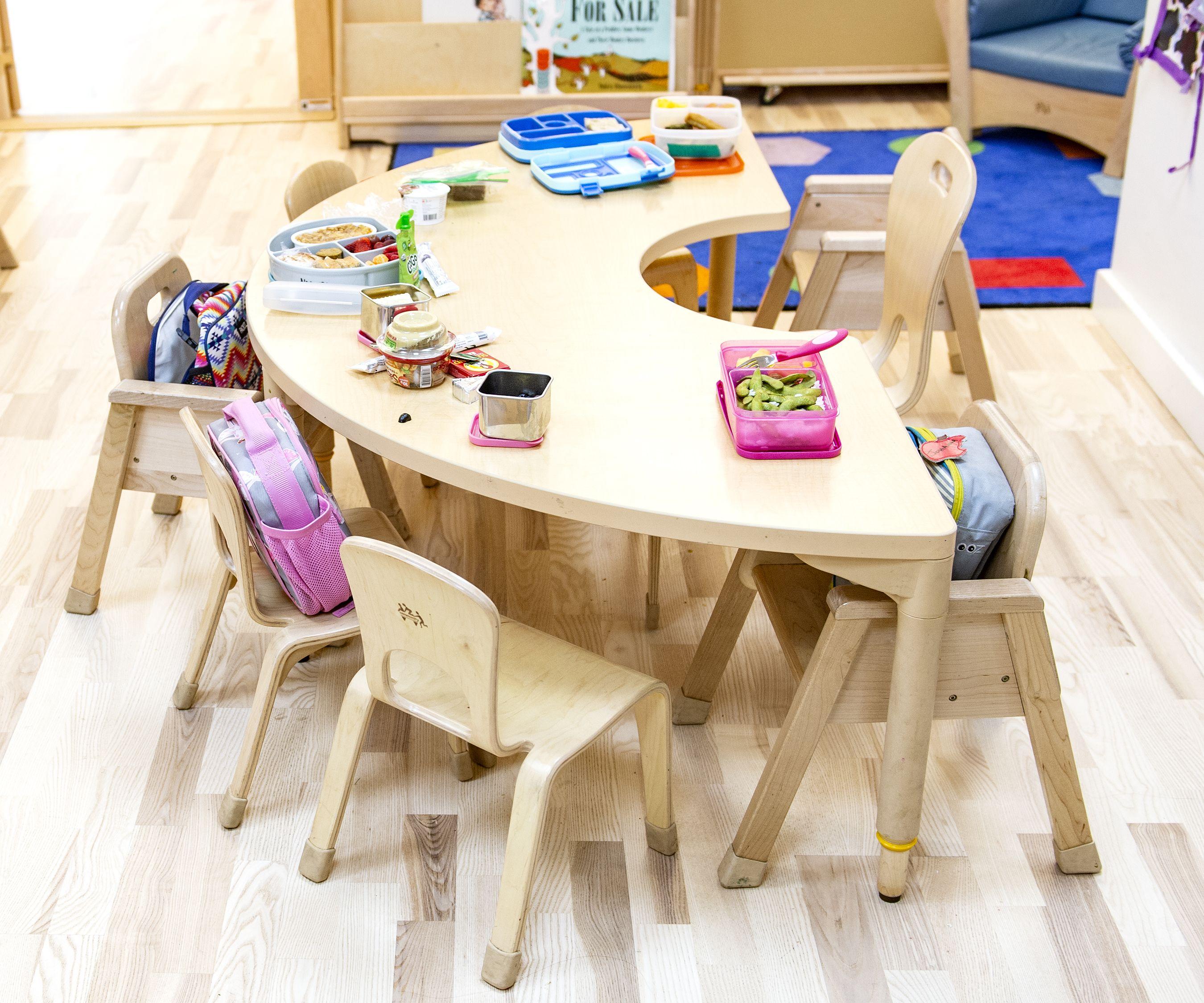 Half Circle Classroom Table