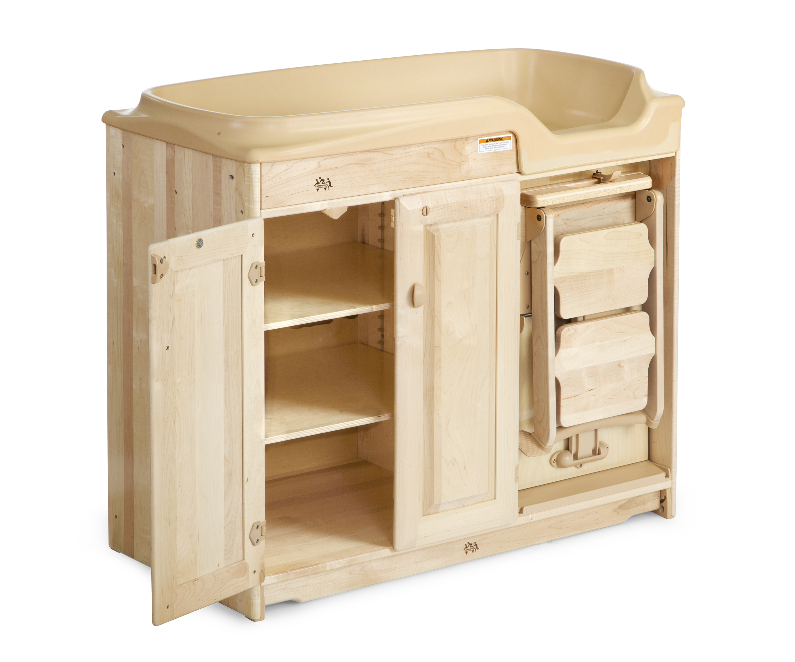 Image of: Changing Table With Steps And 6 Pan